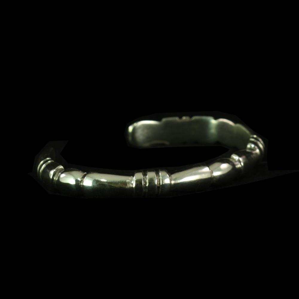 Carved Silver Cuff