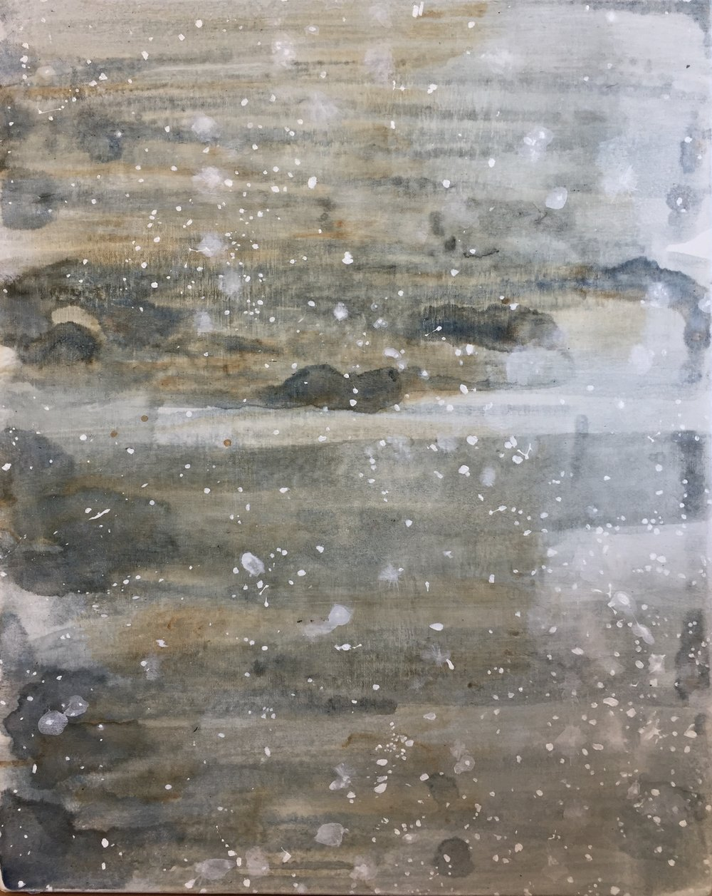 "untitled (salt), 2018, acrylic on canvas, 20"" x 16"""