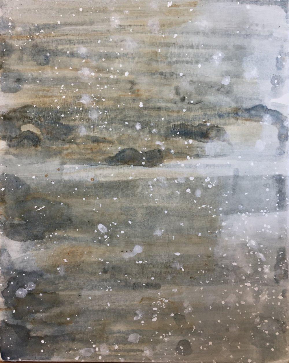 "untitled (salt), 2018, acrylic on canvas, 20"" x 16"""