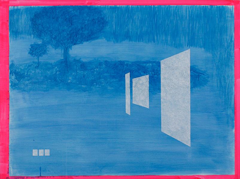 "Evening Windows, 2013, acrylic on canvas, 36"" x 48"""