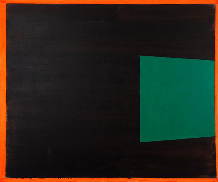"Exit, 2013, acrylic on canvas, 40"" x 48"""