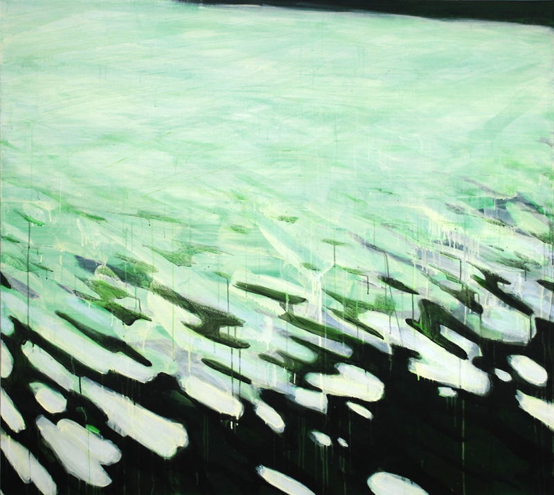 "Mercer's Edge, 2008, acrylic on canvas, 54"" x 72"""