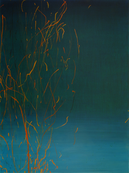 "Sparks, 2008, acrylic on canvas, 48"" x 36"""