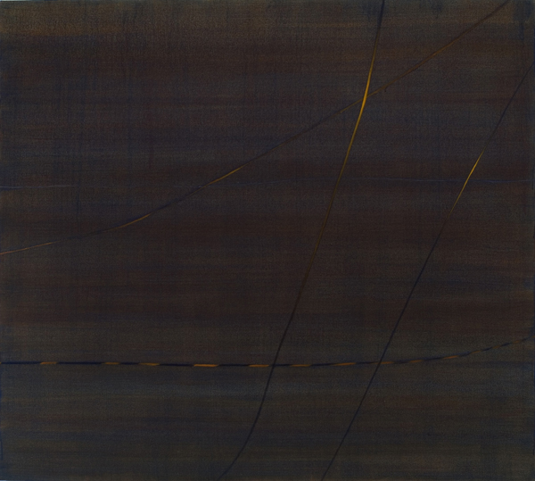 "Wires, 2007, acrylic on canvas, 54"" x 60"""
