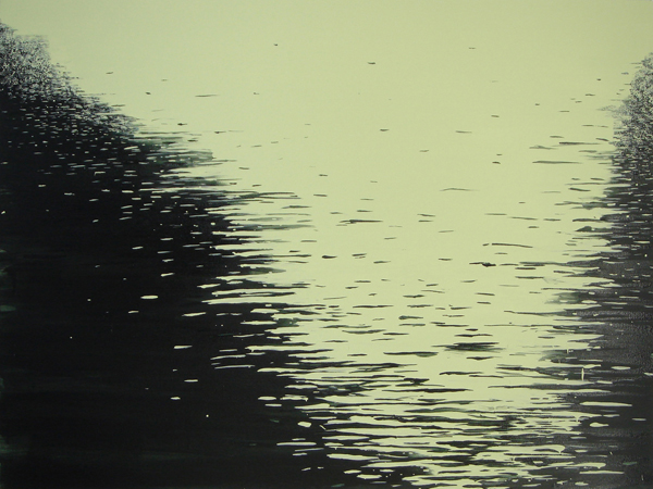 "Moon on the Lake, 2006, acrylic on canvas, 33"" x 44"""
