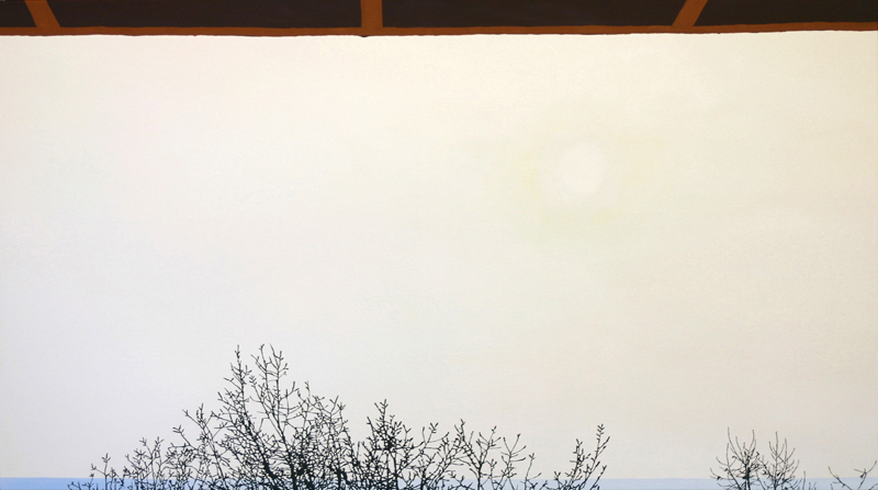 "Sunspot, 2004, oil & acrylic on canvas, 31"" x 56"""