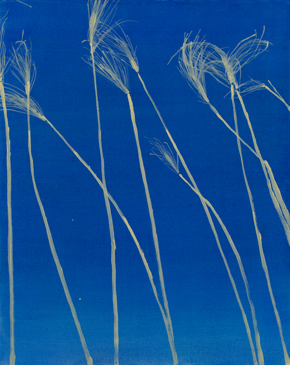 "untitled (tall grass), 2018, acrylic on canvas, 20"" x 16"""
