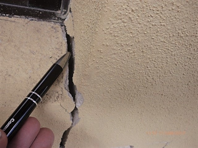 Large wall cracks due to seepage prior to foundation repair