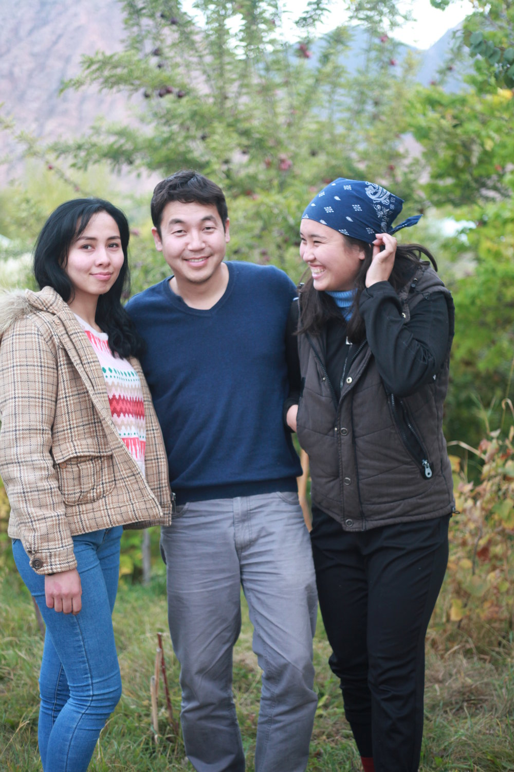 Anara Taalaybek Kyzy, who plays Mira; writer and director Daniar Abdykerimov; and casting director Umsunay Musaeva