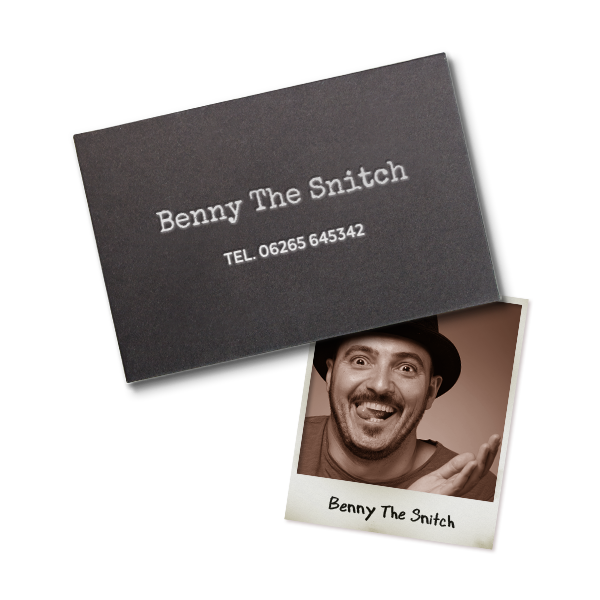 CALL THE SNITCH:  Reach out to Benny the Snitch, your best informant, when you need to be pointed in the right direction (and don't worry, it's password-protected so you don't accidentally spoil any surprises for yourself)