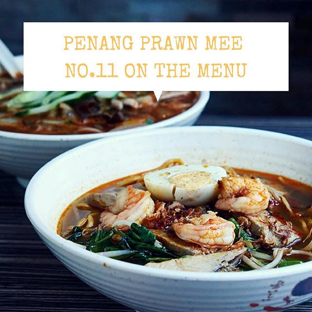 Some like it hot hot hot 😏 #Penang Prawn Mee 虾面 a spicy hot noodle soup. We use a ton of Prawn shells to cook the stock so it's a rich and vibrant prawn flavour.  Although our immediate family is from Johor, this is our Uncle Peng's family recipe straight from Penang. RIP Ah Peng, Prawn Mee will always remind us of you.  #chinatownlondon #soho #eeeeeats