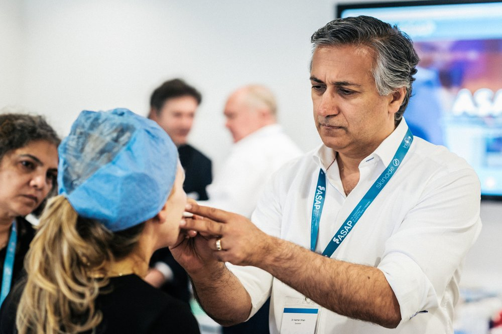 Dr Aamer Khan  MB ChB has spent over 15 years in the aesthetic industry and is known for his expertise in cosmetic rejuvenation techniques. He has been training for over ten years and regularly speaks at conferences.