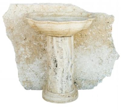 Fontana e lastra in pietra Travertino Paestum