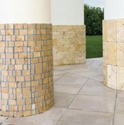 Rivestimento esterno in tozzettidi pietra anticata
