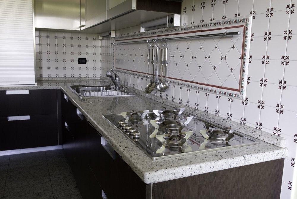 Cucina moderna in marmo bianco Kashemire bianco