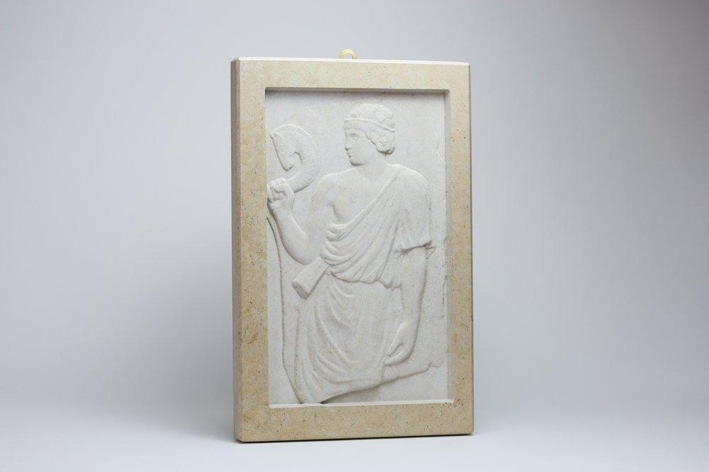 Bassorilievo in marmo Sunny Oro civiltà antica