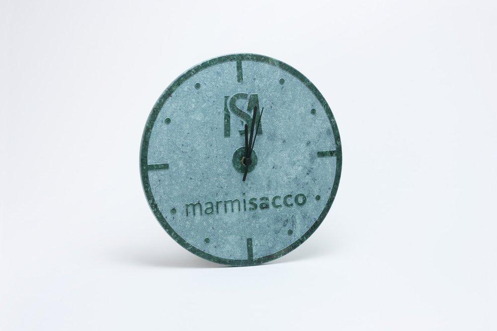 Orologio modello bussola in marmo Verde Guatemala