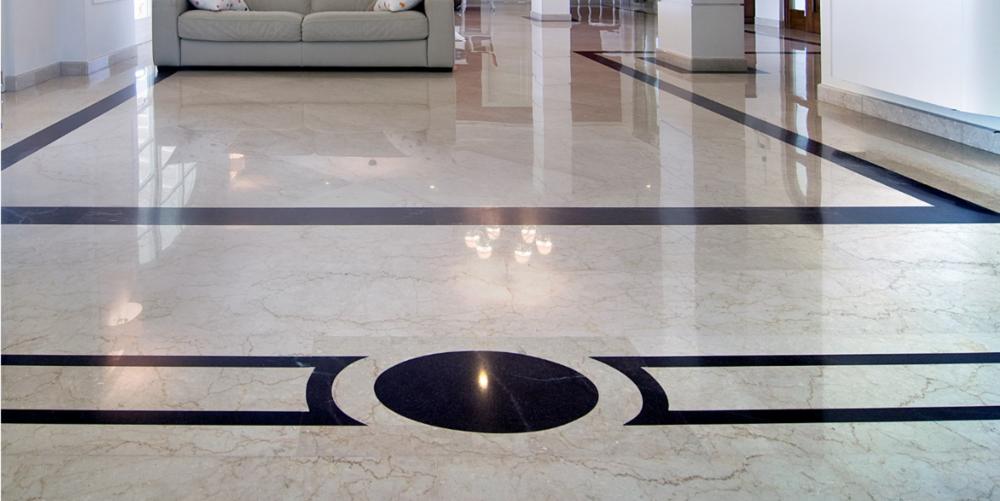 pavimentazione in marmo Botticino