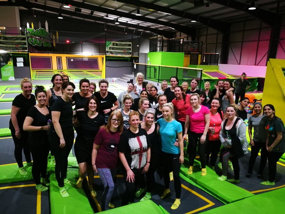 Jump HIIT class every Thursday 7pm at Jump Xtreme Bolton. High intensity fun work out on the trampoline.