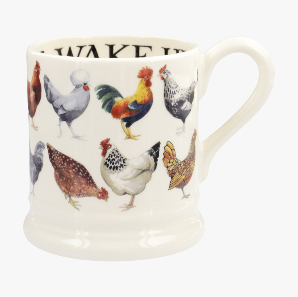 Hen & Toast Row Mug by Emma Bridgewater