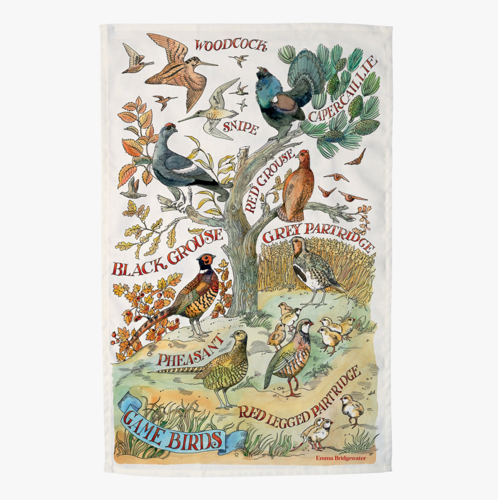 Game Birds Tea Towel by Emma Bridgewater