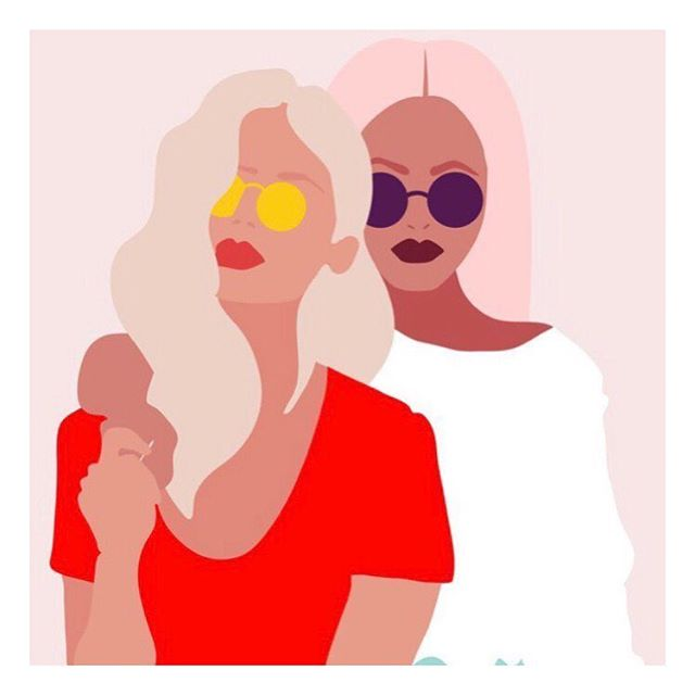 S U N D A Y  M O O D . . Dessin : by l'incroyablement talentueuse @byisabel . . . . . #sunday #sundaymood #chill #moodoftheday #sororité #sorority #sisterhood #allsisters #sunnyday #supgirl #feminism #feminisme #feelinggood #pinkypic #inspiration #inspired #bff #strongertogether