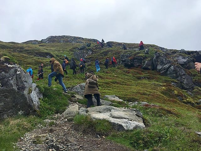 We are on our way up Ryten! @arcticphilharmonic