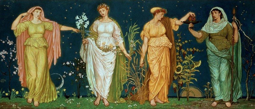 """Four Seasons"" By Artist Walter-Crane"