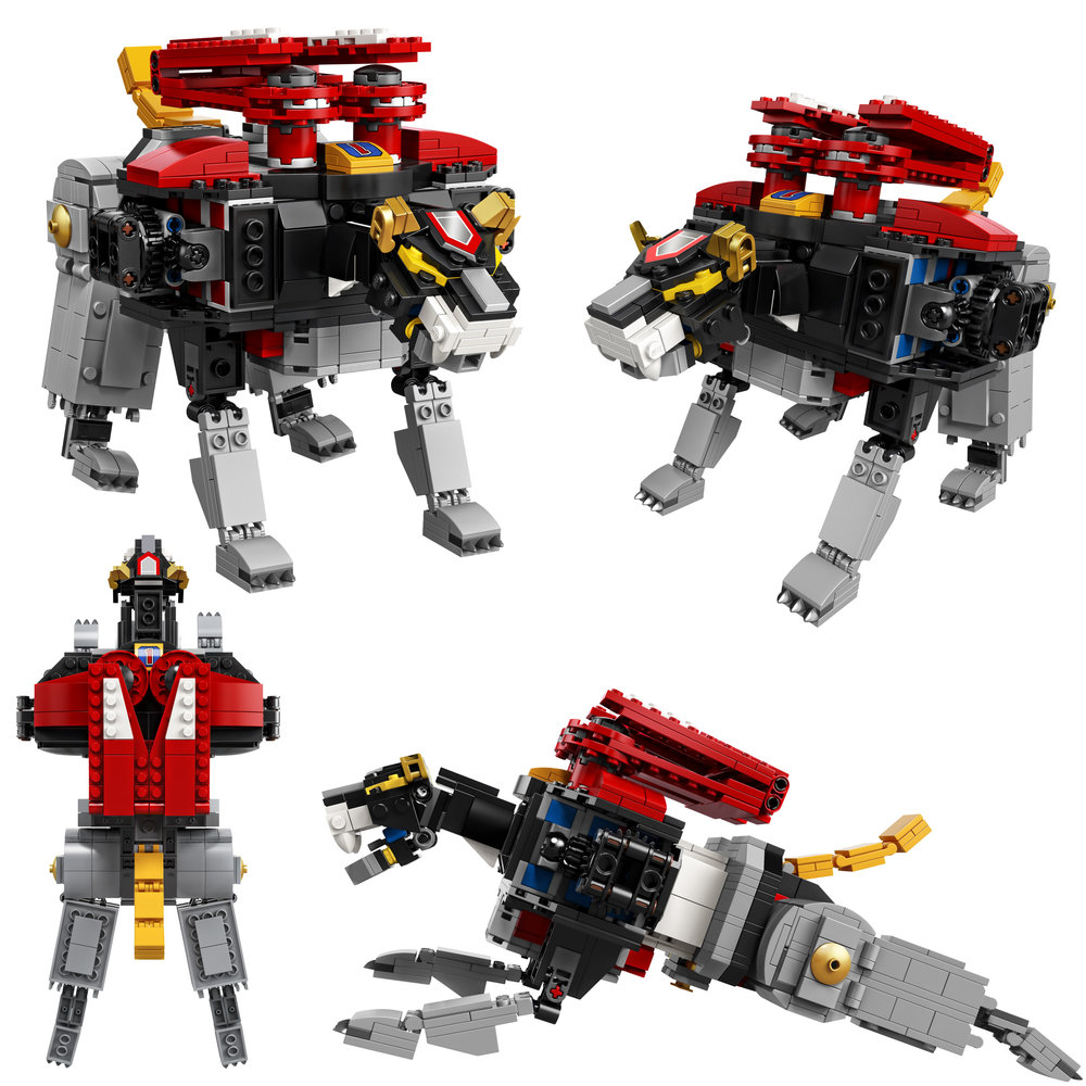 The Black Lion is the torso and head of the giant robot.