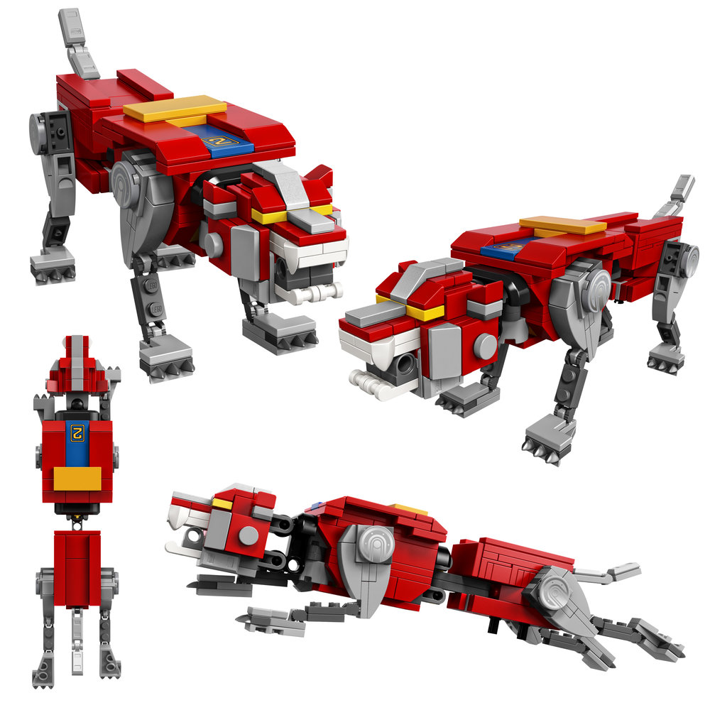 The Red Lion is the right arm of the giant robot.