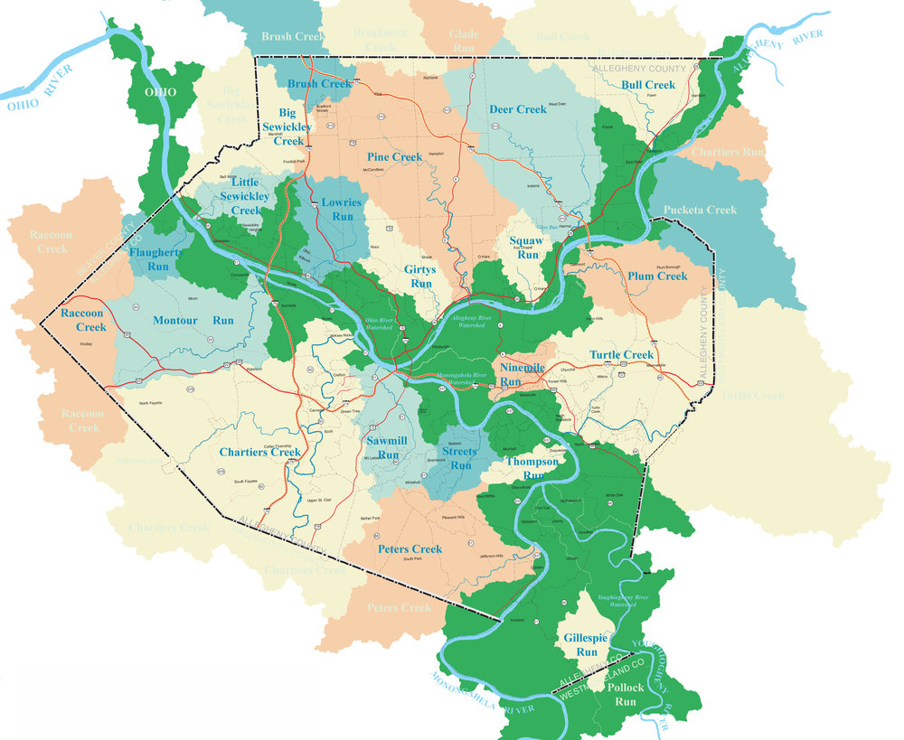 Map provided by Allegheny Watershed Alliance.