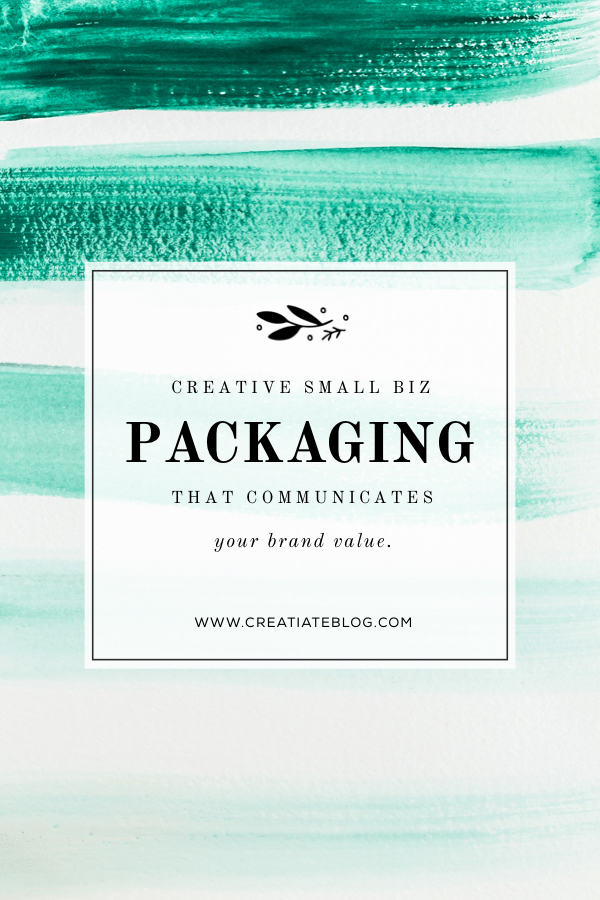 Simple + Awesome ideas for small business branding & packaging that your customers + clients will LOVE from the Creatiate blog | More at www.CreatiateBlog.com