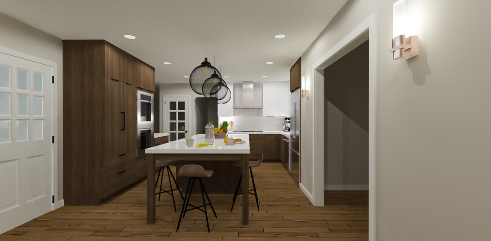 Contemporary Kitchen Rendering 1