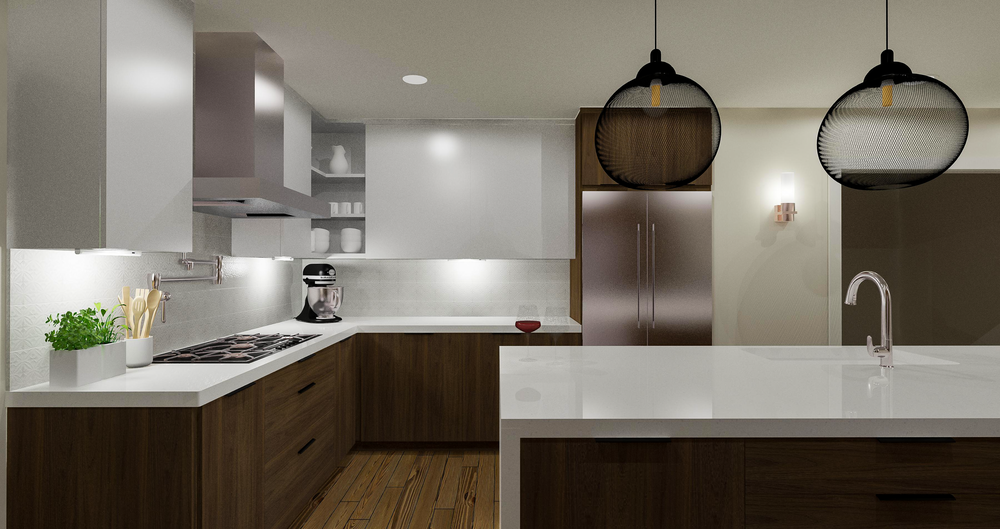 Contemporary Kitchen Rendering 3