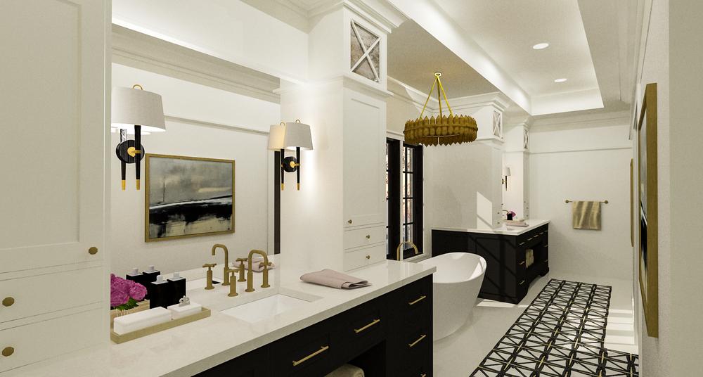 Contemporary Bathroom Rendering 1