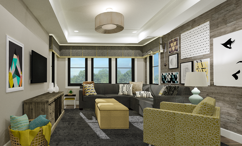 Contemporary Lounge Rendering