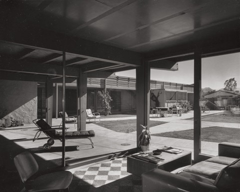 JULIUS SHULMAN- Afternoon shadows, Del Marcos Hotel, Palm Springs, by architect William F. Cody, ca. 1950-1959 (image and caption via artnet.com)