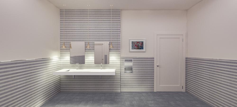 Sola Salons Design Book: Transitional Restroom Scheme 1