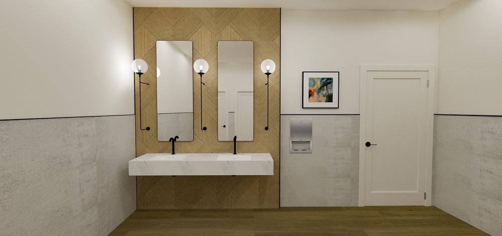 Sola Salons Design Book: Modern Restroom Scheme 1