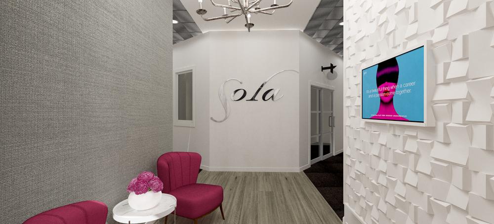 Sola Salons Design Book: Transitional Foyer Scheme 3
