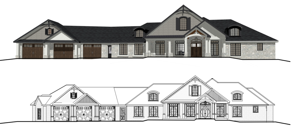 Updated Exterior Elevation with Kelly's Assistance