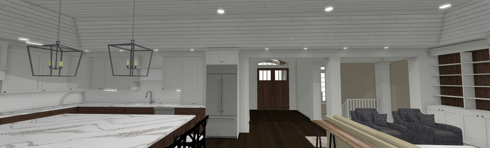 Updated Kitchen/Living Room Design