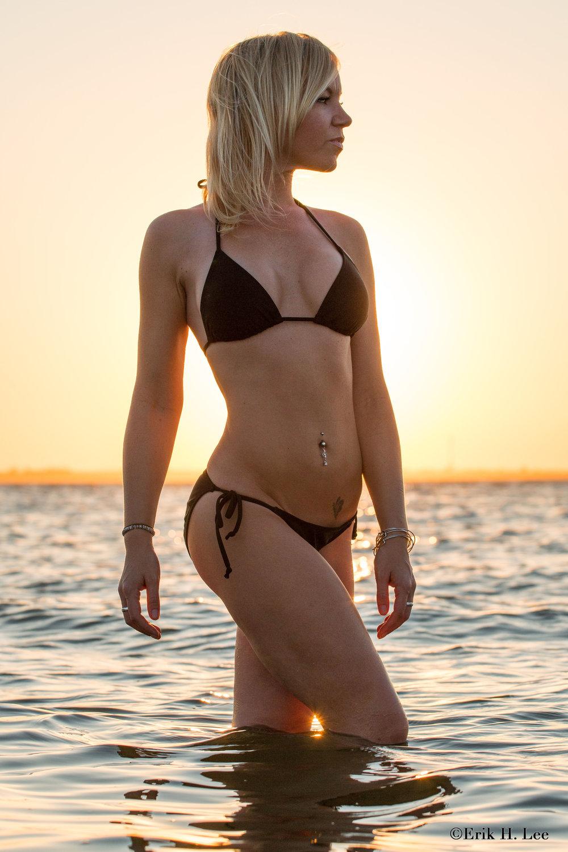 Jamie - Photographed on Fire Island National Sea Shore wearing bikini by Old Navy.