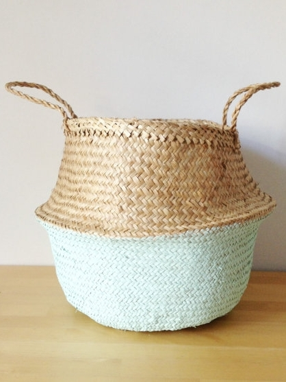 Mint sea grass basket - I absolutely love this handwoven seagrass basket from Tala Home Design - a contemporary chic alternative to the traditional picnic basket. Simply throw everything in it and you're ready to go. They come natural or dip dyed in a range of soft pastel colours and even with pom poms! How great would this look as a planter when it's not going on a picnic?