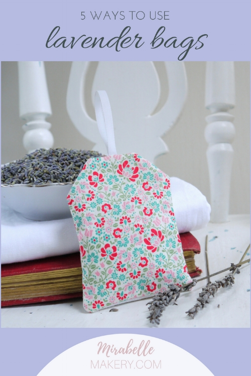 Lavender bag shabby chic floral fabric