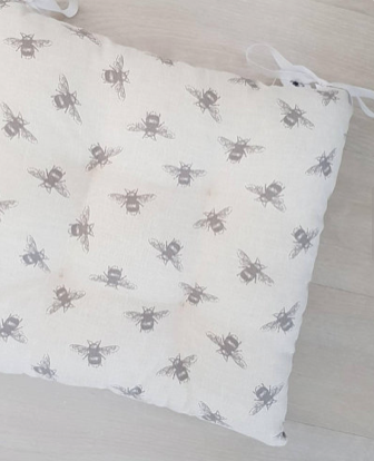 Comfy cushions - Are you sitting comfortably? You will be if you pack a couple of Fauna Home Designs' handmade cushions to take with you. This sweet bee print cushion is just one of Hayley's whimsical creations. They all come complete with natural and sustainable inserts so they're ready to use straight away - no trying to find a cushion filling that doesn't quite fit. And if that wasn't enough she'll make cushions to your exact specification too.