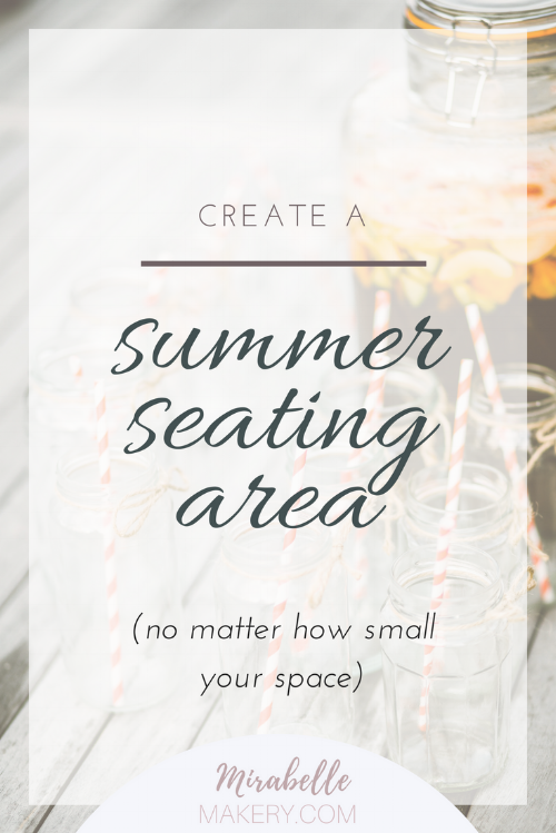 how to create a summer seating area outdoors