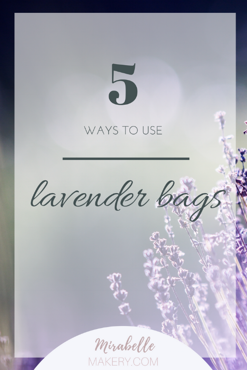 Lavender bag ideas around the home