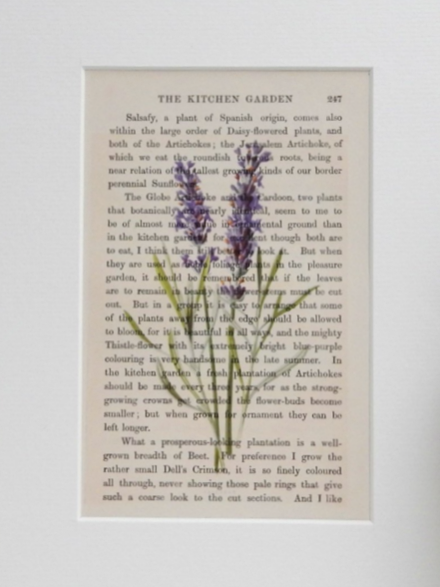 Botanical art - Ann from Tickety Boo Prints, a self-confessed bookworm, rescues forgotten books and prints vintage style artwork and meaningful quotes over their pages. This beautiful botanical lavender illustration is just one of many delights that comes mounted and ready to frame.