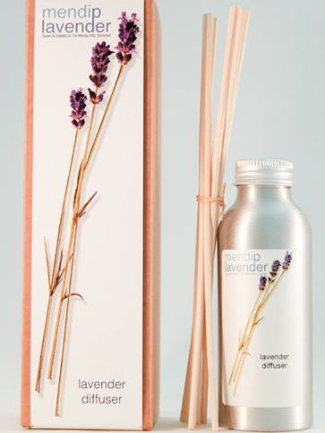 Room diffuser - This elegant lavender room diffuser from Mendip Lavender will add a sense of calm and tranquillity to any home. The essential oils which make up this soothing blend comes from hand-picked lavender grown in the hills of Somerset without the use of chemicals so your won't be breathing in any nasties.